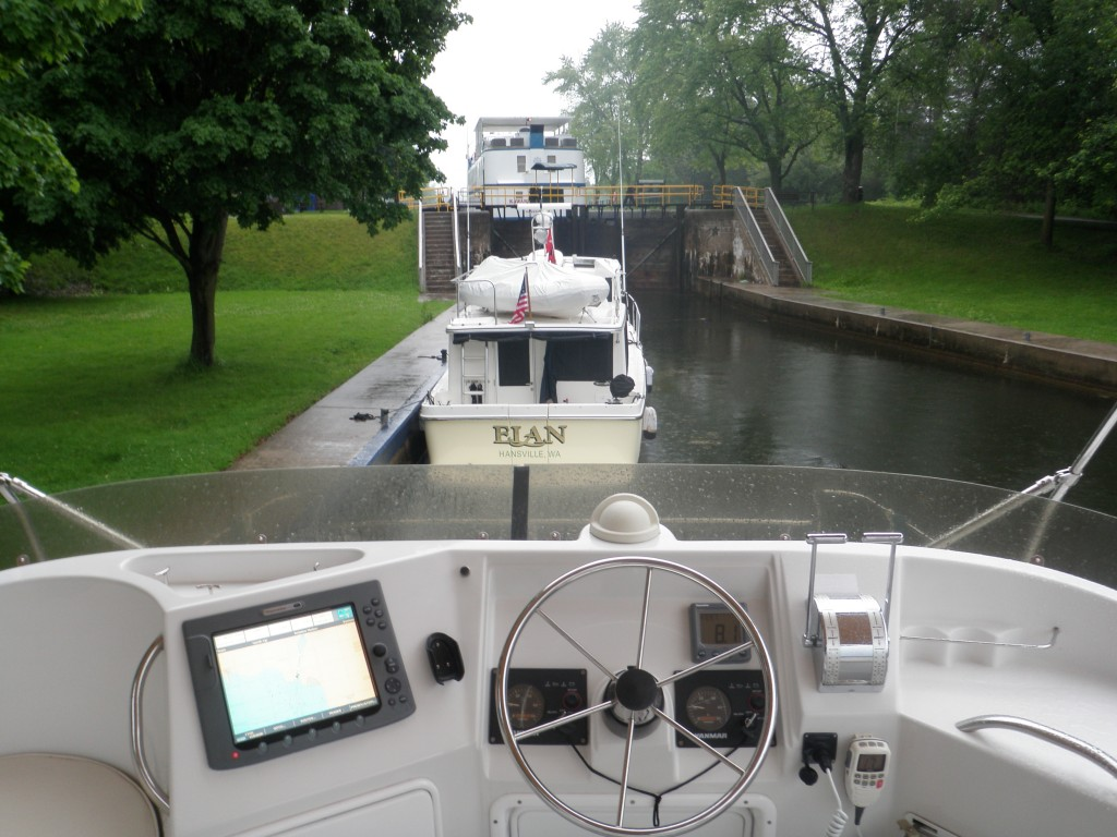 The Ashburnham lock, in a quiet part of Peterborough, was our unintended home for a couple of days while awaiting a replacement part for the port engine.