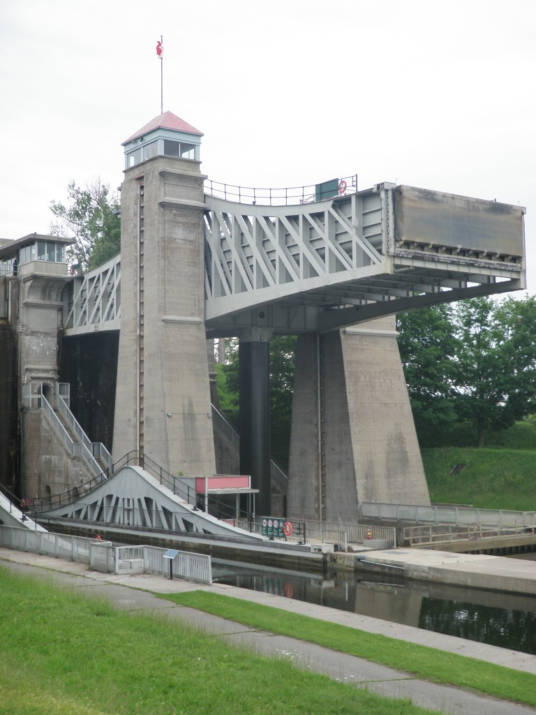 The Peterborough Lift Lock, completed in 1904, is the highest in the world (65 ft rise in elevation).