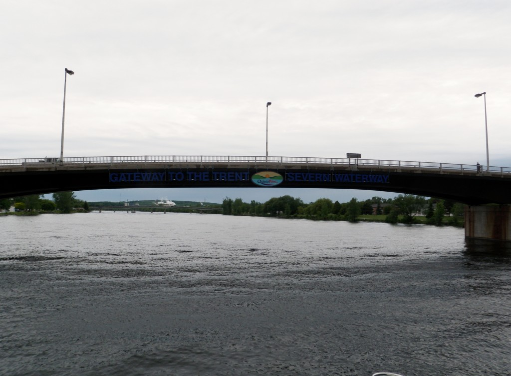 Entrance to the Trent-Severn Waterway, in Trenton - only 240 miles and 45 locks to go.