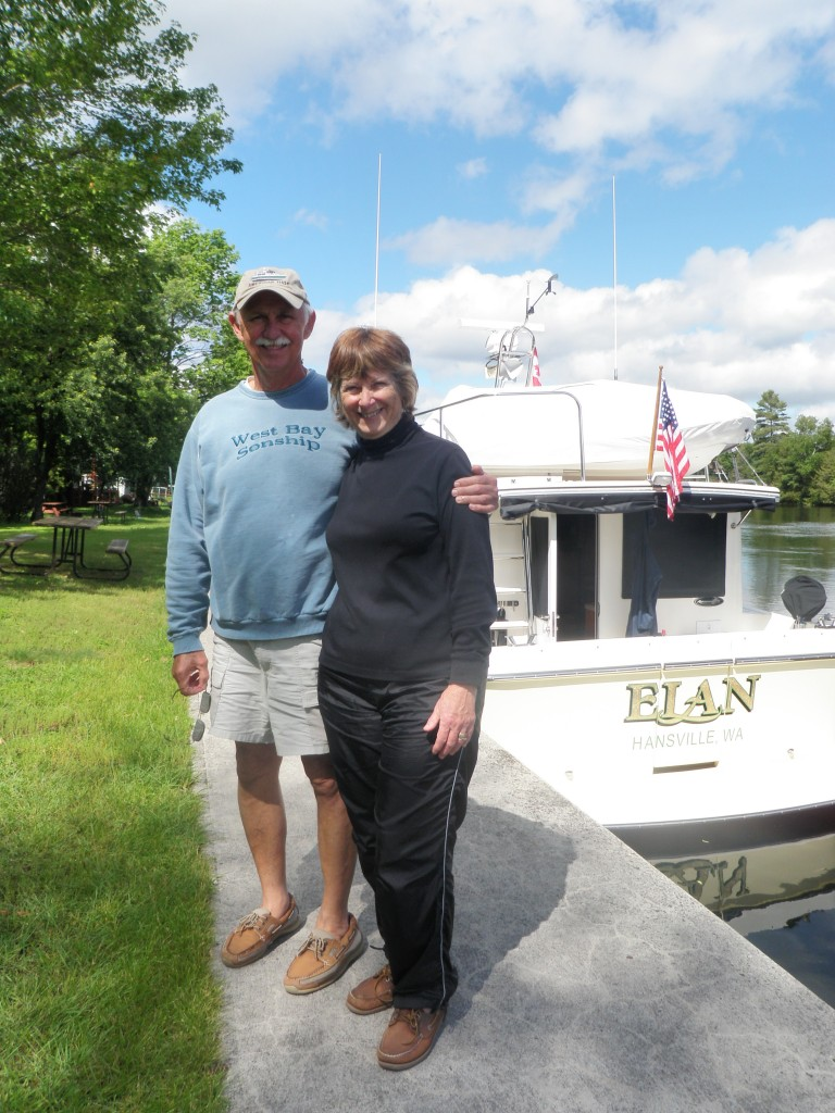 Some new cruising friends, MIke & Barb Harbin, with their 34 American Tug; Mike & Barb hail from the Olympic Peninsula.