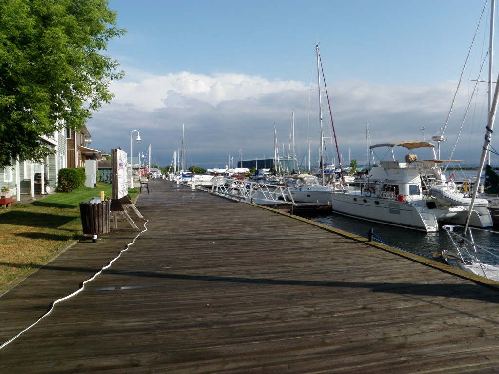 The waterfront boardwalk in Little Current.