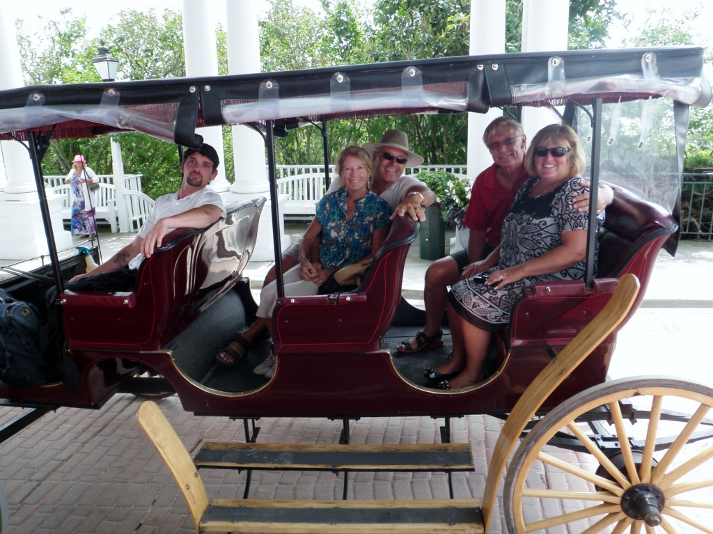 After our carriage ride around the island with Rick and Deb Chabot.....