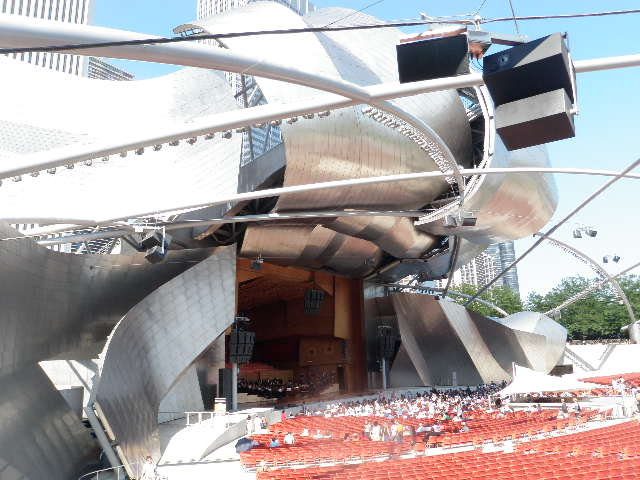 Outdoor concert venues are free events are also prevalent; this is Pritzker Pavilion, one the most sophisticated venues of its kind in North America; we listened to opera with many thousands of other spectators one lovely evening.