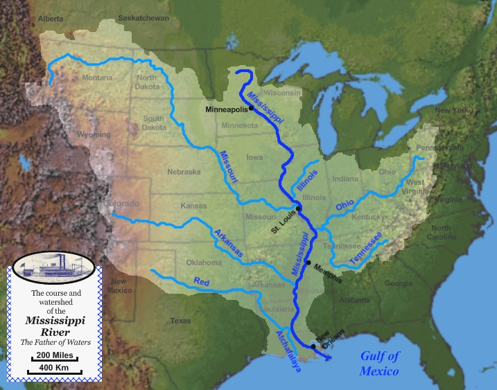 Our inland river trip has so far taken us down the Illinois and Mississippi, and up the Ohio and Cumberland, to Grand Rivers, Kentucky.