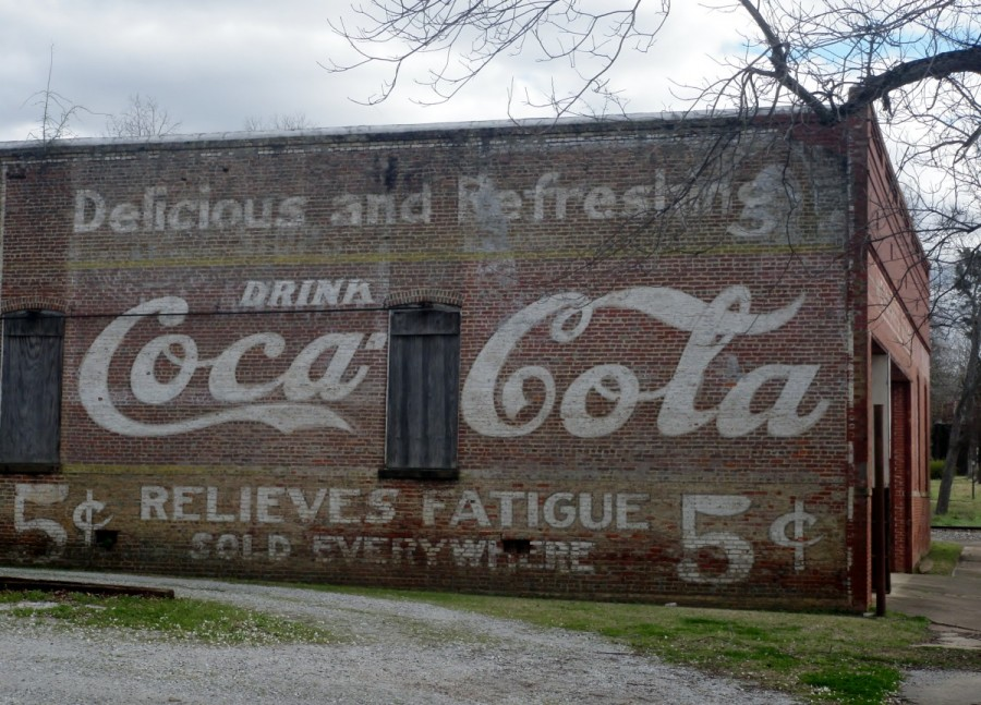 Being in the heart of Coca-Cola country, Ria couldn't resist a shot of this original billboard; based on the price it could be almost a 100 years old!