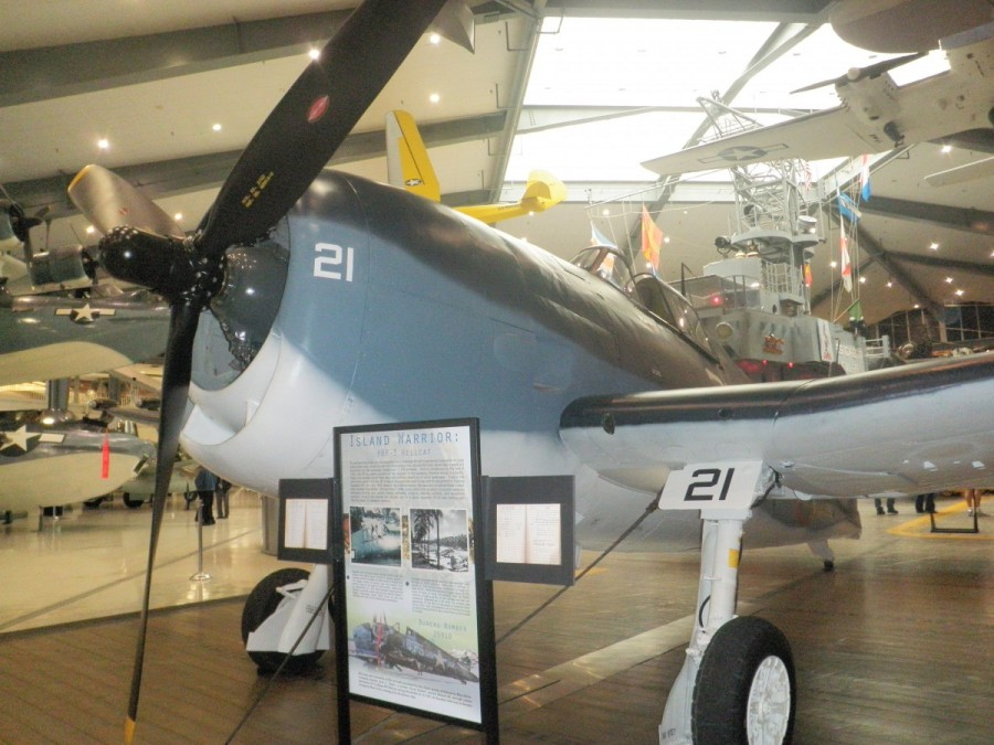 Almost all the aircraft at the museum are original; many of the WWII vintage planes were recovered from the bottom of Lake Michigan near Chicago, where navy pilots were trained how to take off and land from aircraft carriers.- sometimes not successfully.