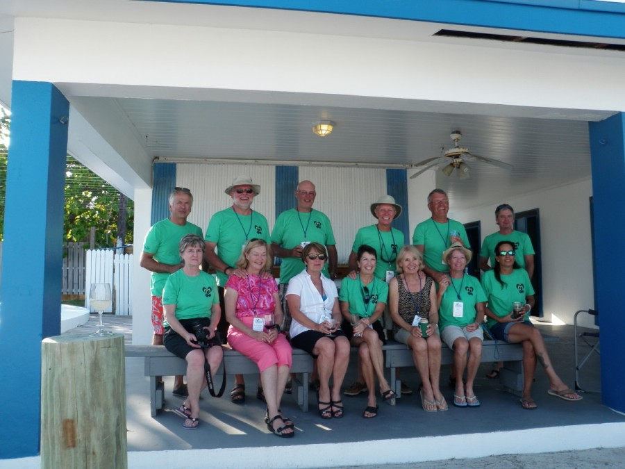 Our first gathering of the PDQ gang, in Bimini; eventually a total of 19 boats will participate in the Exumas trip.
