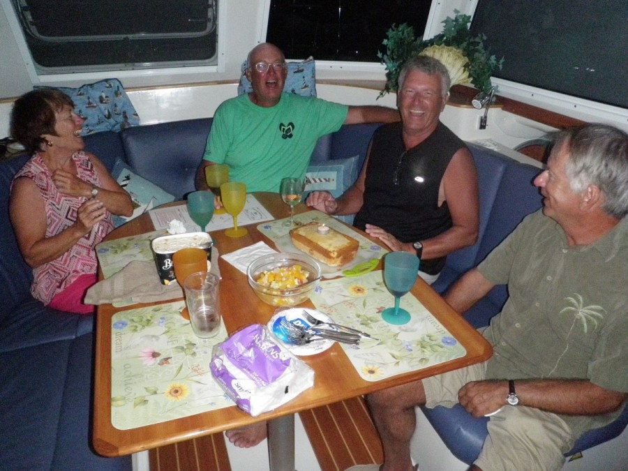 Celebrating John's 60th birthday with friends aboard Tar City Star; thanks Maureen, Ed, Carole, Bill & Ria for a great party!