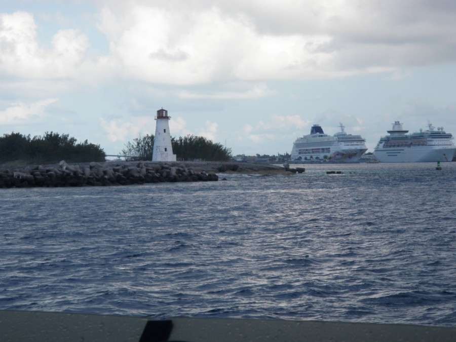 Nassau Harbour was a welcome sight, as we encountered some fairly rough seas for the final 40 miles.