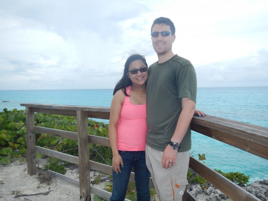 Our son Ryan and his wife Joanne, who joined us for 10 days in the Exumas.