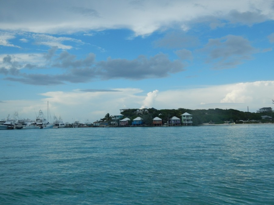 Picturesque Staniel Cay Yacht Club from the water......