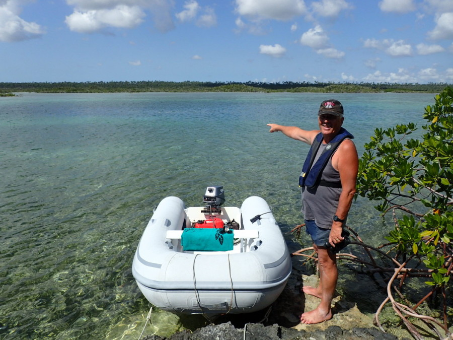 While in Little Harbour we explored the blue holes which dot the mangroves of nearby Old Robinson's Bight; blue holes, famous with cave divers, are underwater cave systems that are connected with the open ocean; this one was 6 miles 'inland' from the Atlantic.