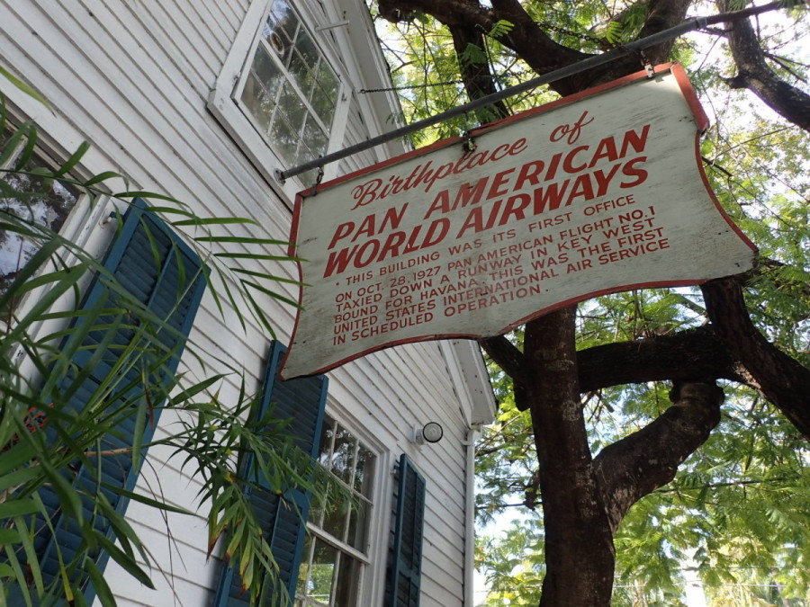 Given it's strategic position at the entrance to the Gulf of Mexico, Key West has an interesting history as a naval and transportation hub, including as the initial base for the the States' first international airline.