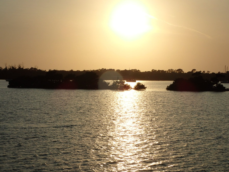 Sunset at Cayo Costa Cay, which is a nature preserve and  state park.