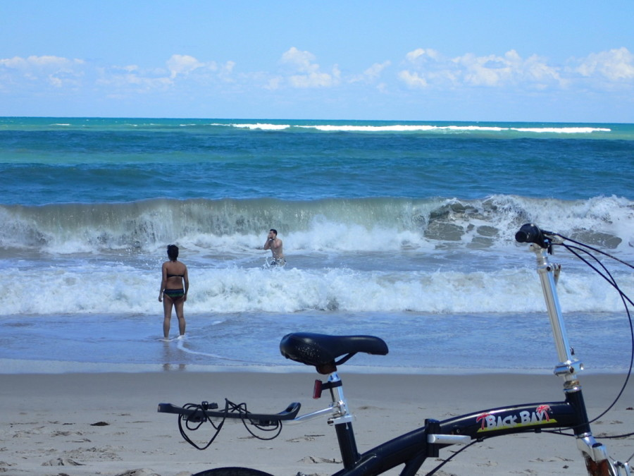 A fun day playing in the surf at Vero Beach....