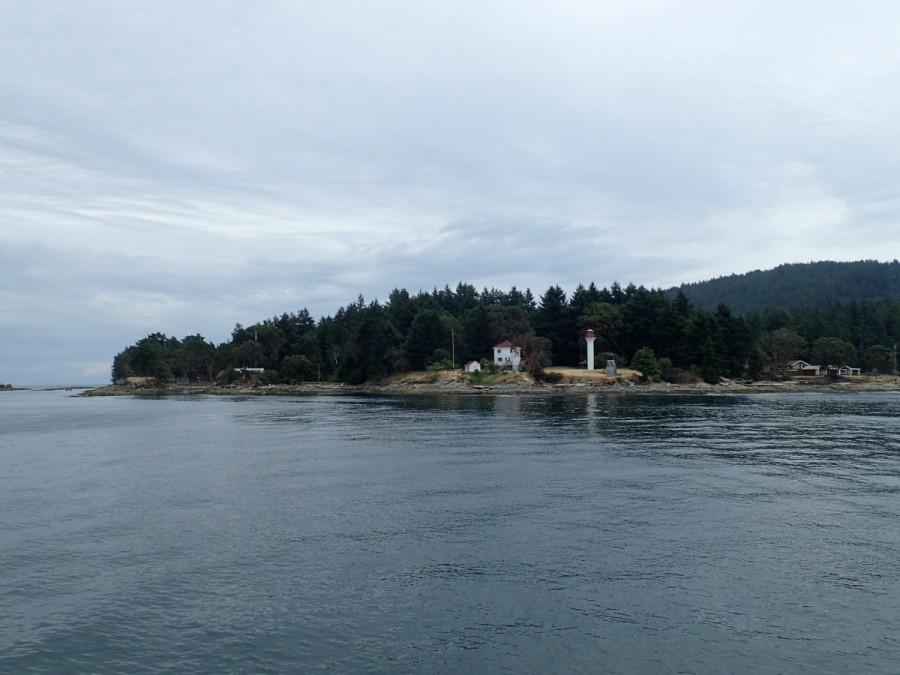 Picturesque Geogina Point Lighthouse, Mayne Island.