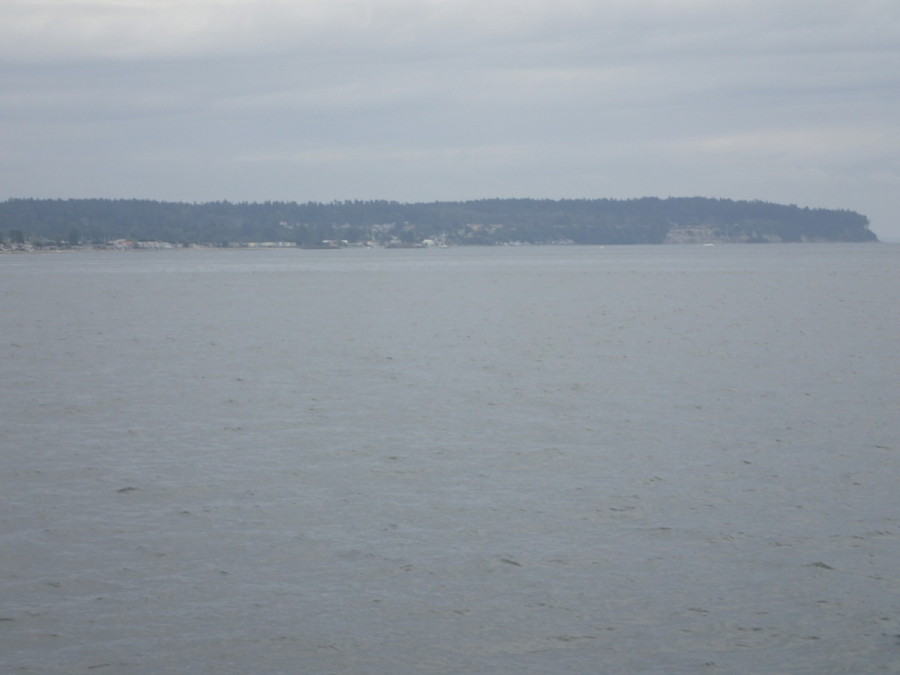 Approaching Point Roberts; the marina is dead ahead.