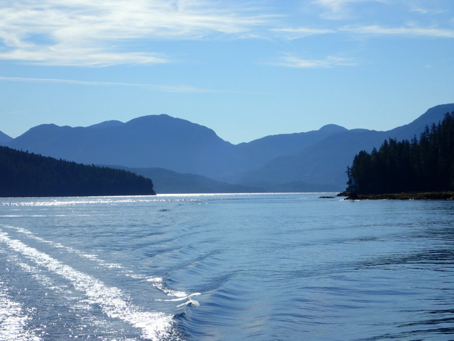 Cruising the protected waters of Fitz Hugh Sound on a sunny morning.