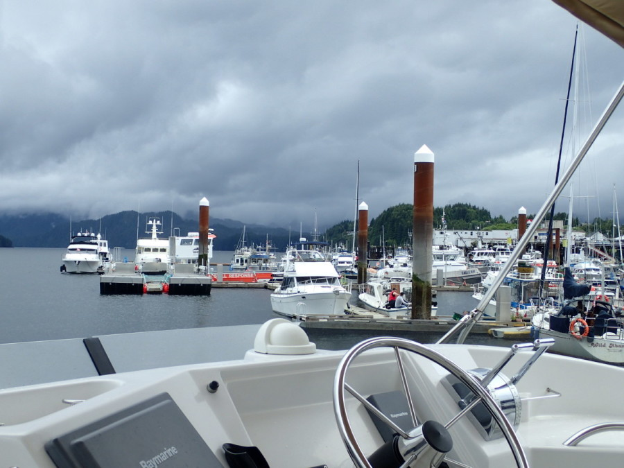 our berth at Cow Bay Marina, Prince Rupert, 613 miles from our departure point at Point Roberts.