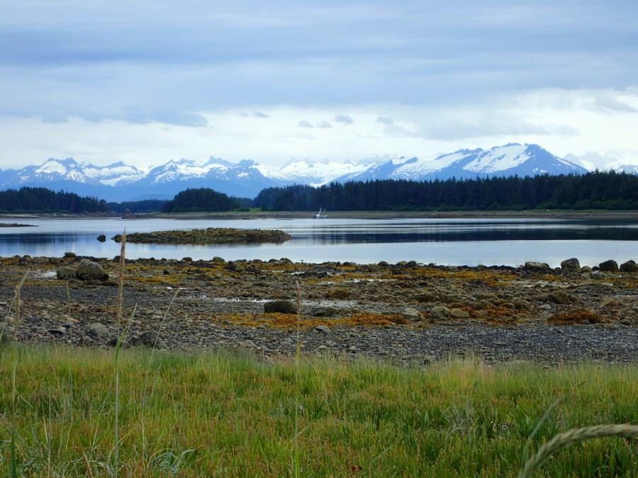 A view of the moutains to the east of Juneau from our anchorage at Swanson Harbour, which is located at the juncture of Lynn Canal and Icy Strait.