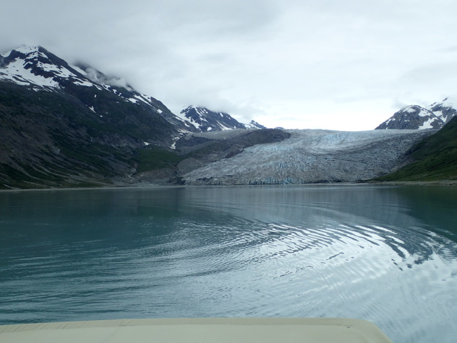 Reid Glacier from our anchorage in Reid Inlet, our base of operations while we explored the area.