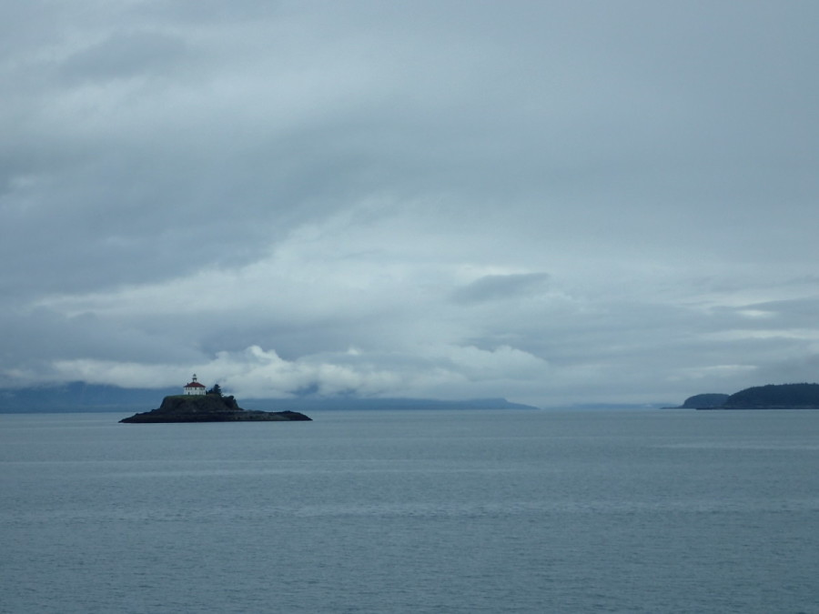 A view of Eldred Rock Lighthouse as we head north to Skagway aboard the MV LeConte; often windy and rough, 90 mile long Lynn Canal was mostly calm for us.