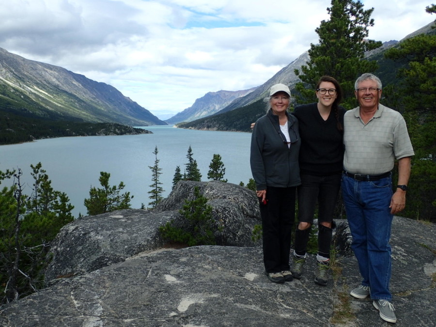During our short stop in the ghost town of Bennett we climbed to western terminus of the Chilkoot Trail, which provided us with a grand view back down the lake.